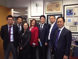 Lois Ritarossi hosts Fuji Film visitors