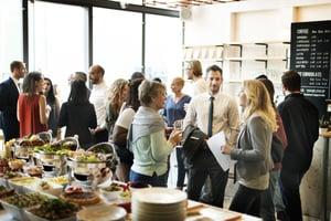 business meet eating