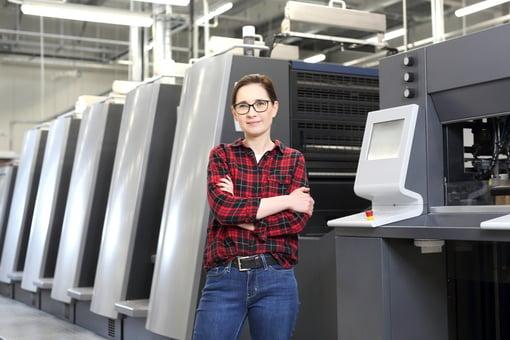 milllenial girl printing